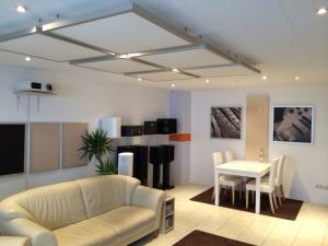Wohnzimmer design wand stein